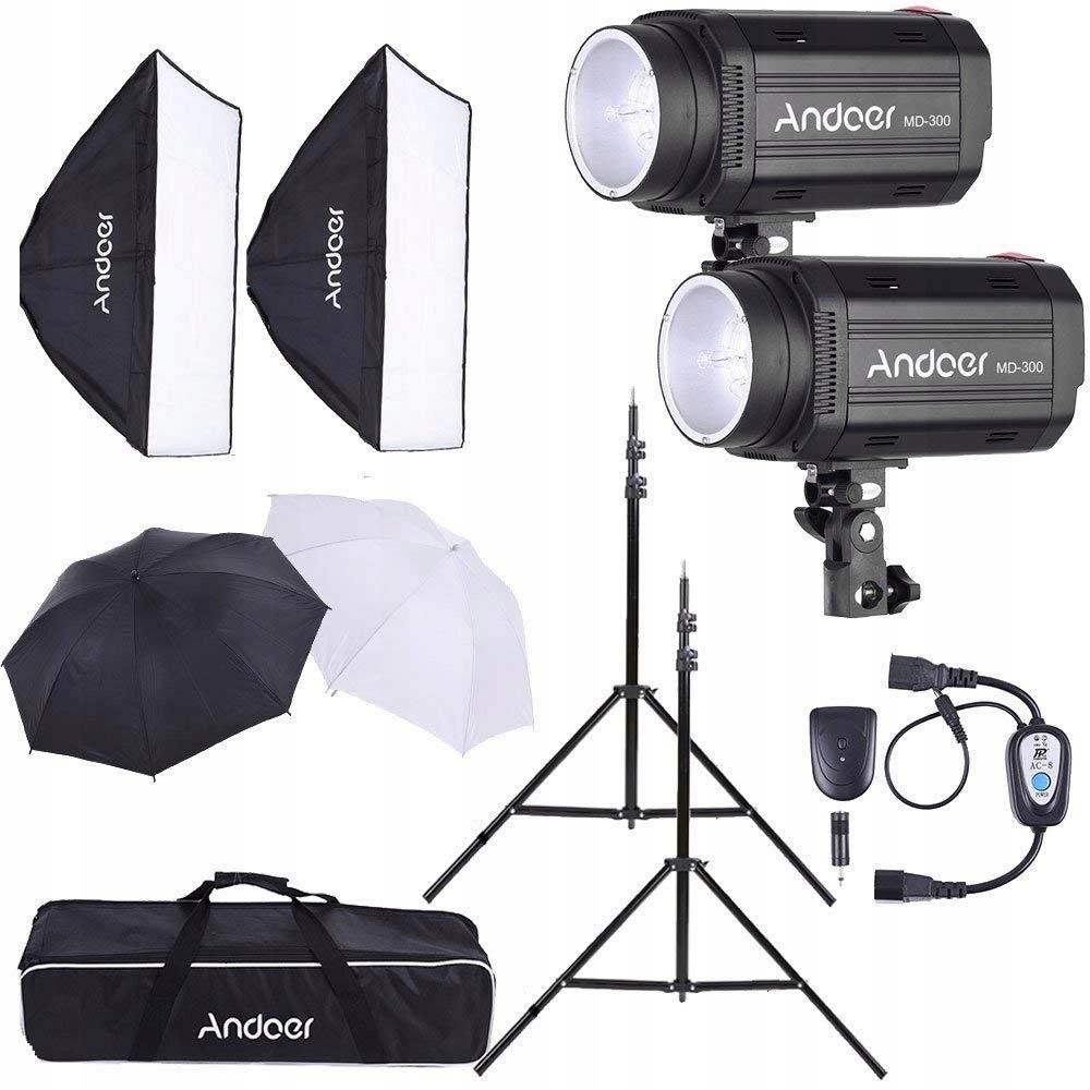 284d15 Oświetlenie Studyjne Andoer Md 300 Softbox