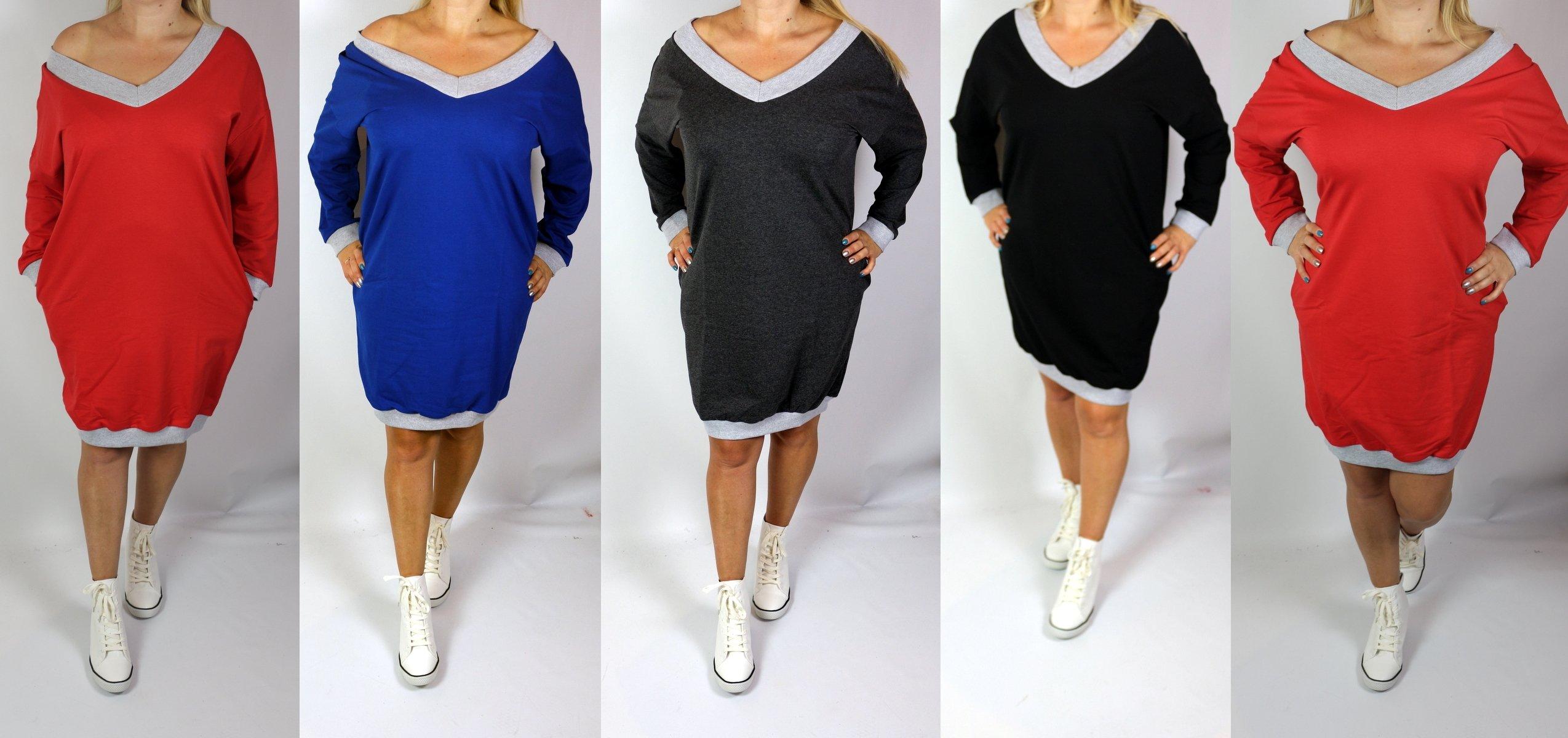 030913971a Hit Dresowa Sukienka Bluza Tunika 44-54 tu 44 46 - 6946851061 ...