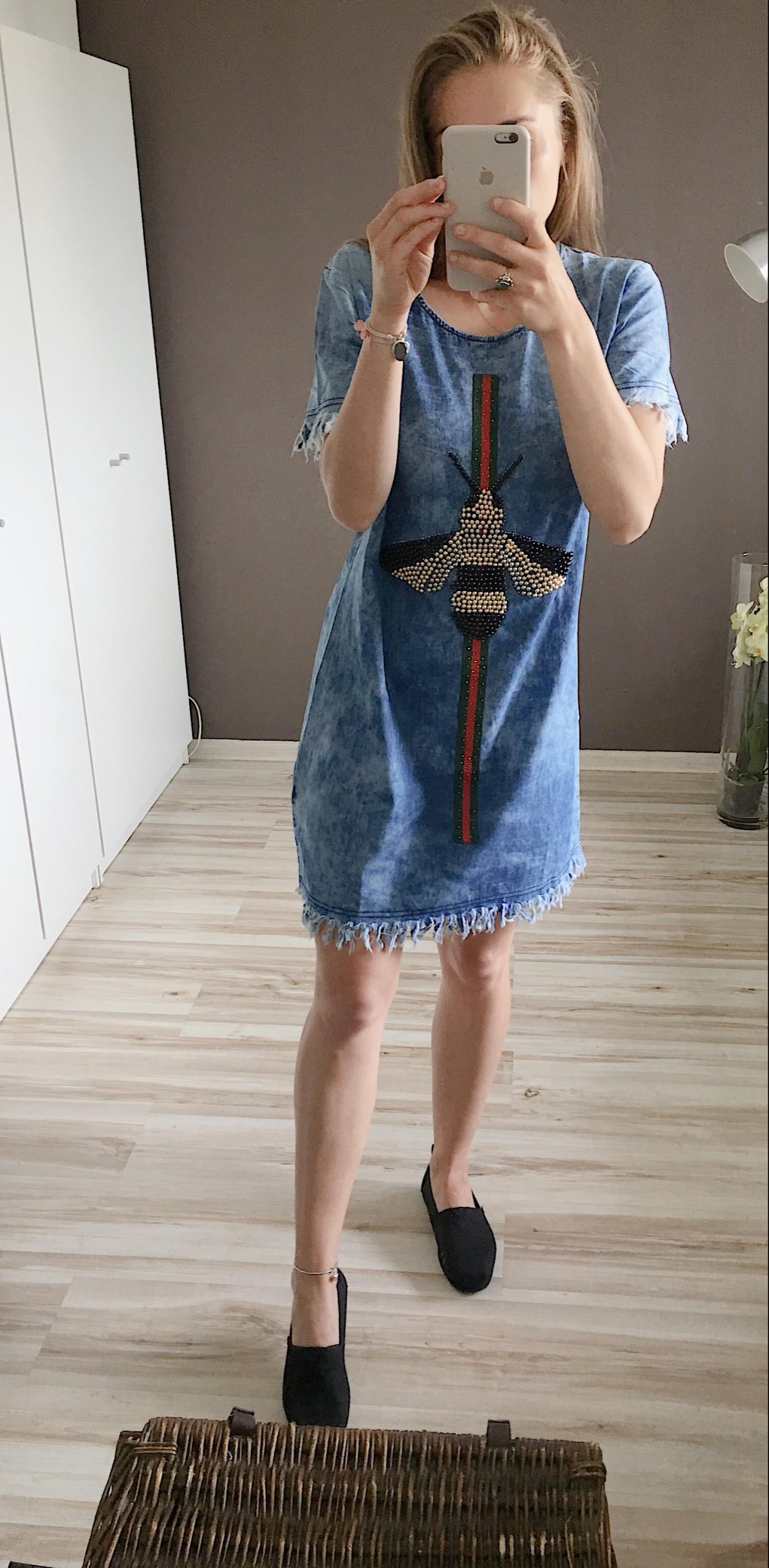 10e2160b Sukienka, tunika, jeans, dżins, dżinsowa sukienka - 7429903941 ...