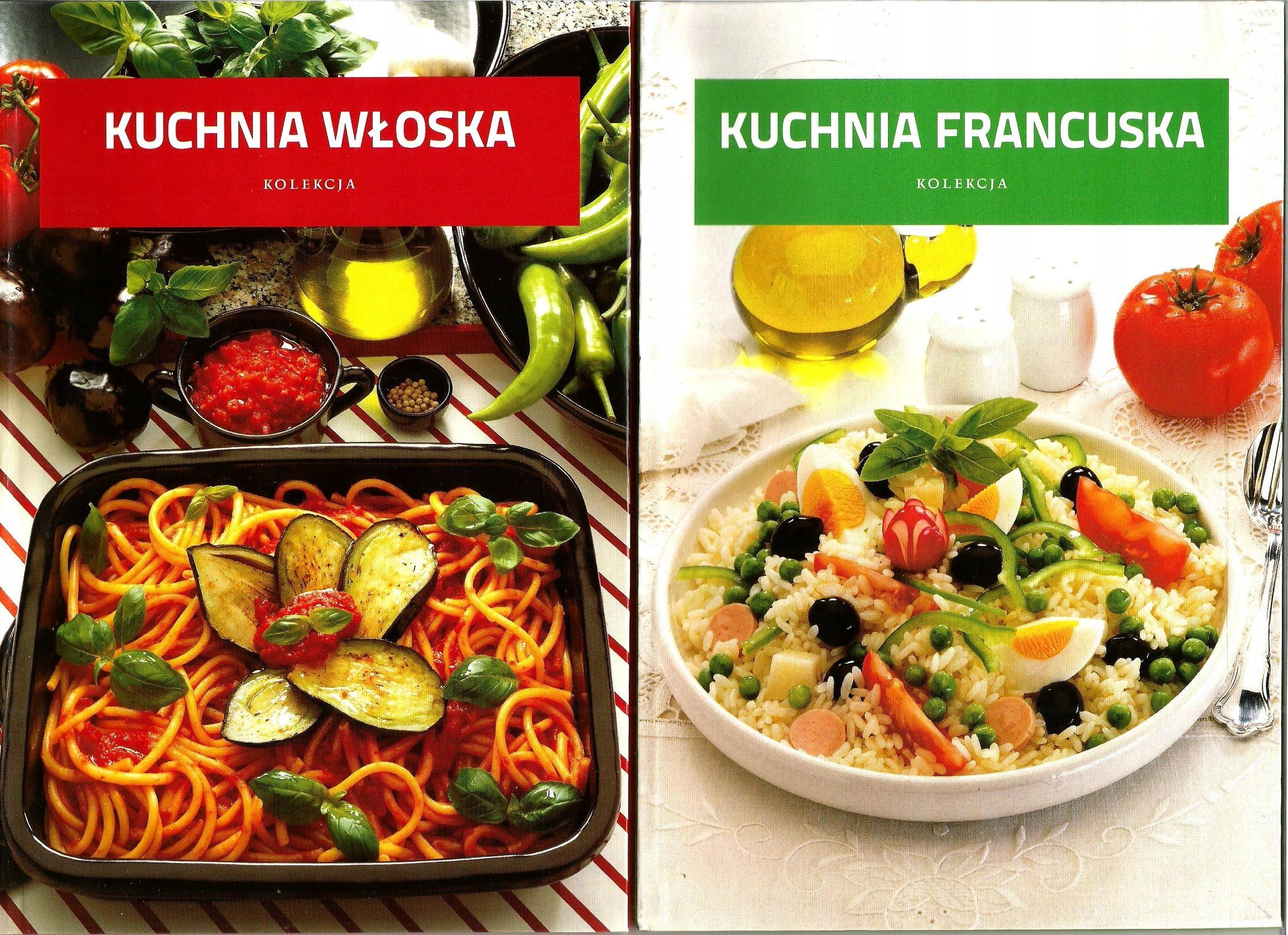 Kuchnia Rosyjska Francuska Włoska 3 Książki Nowe