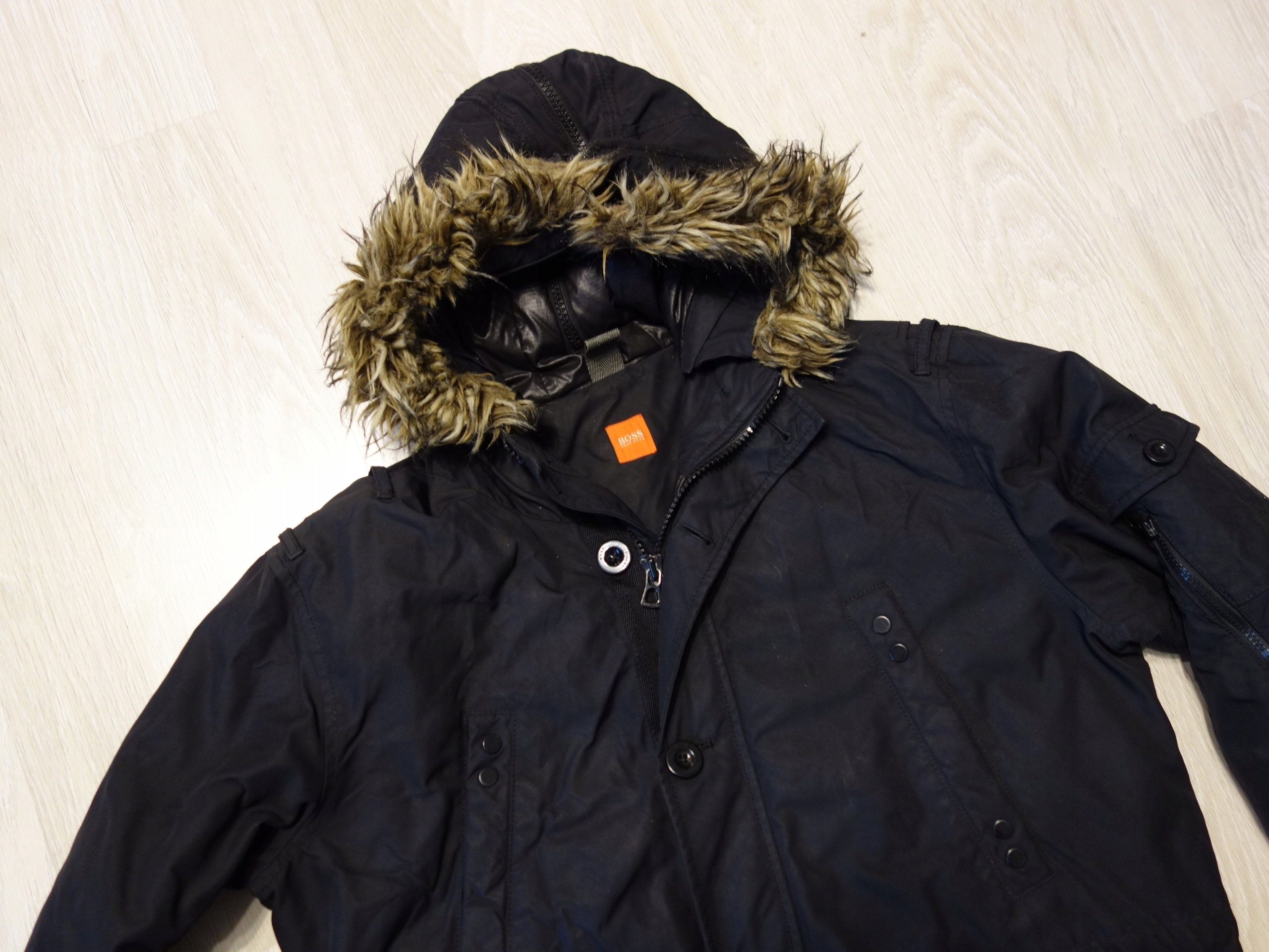 9b8e88496274d HUGO BOSS Orange puchowa kurtka zimowa parka 50 L - 7789784577 ...