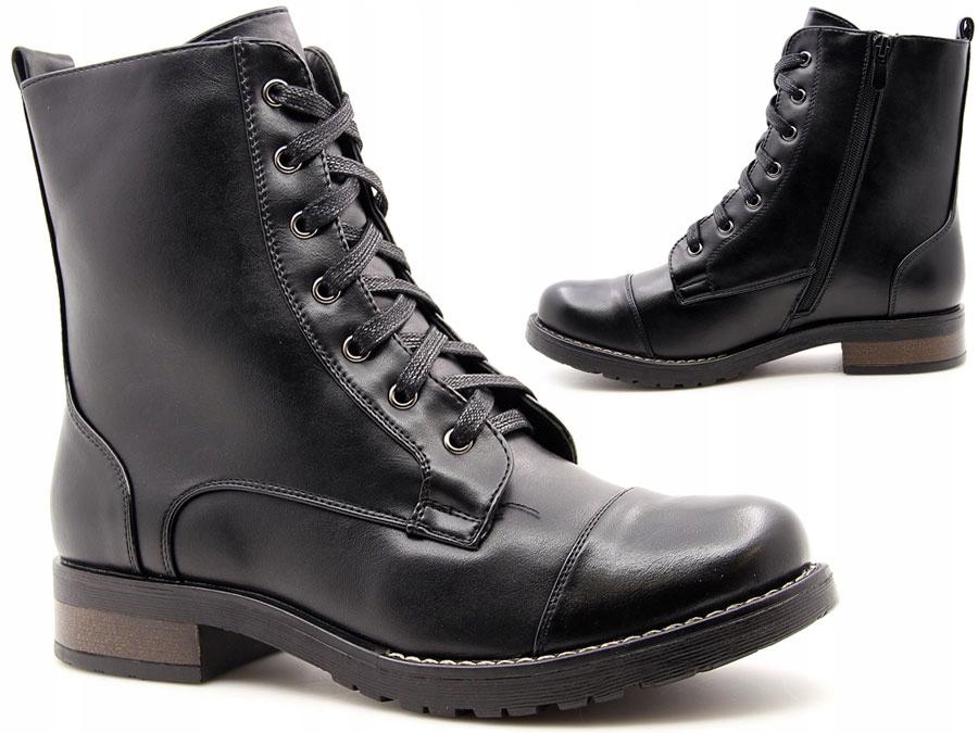 9e5af2461d2c7 czarne BOTKI workery OCIEPLANE glany SABATINA 37 - 7561559070 ...