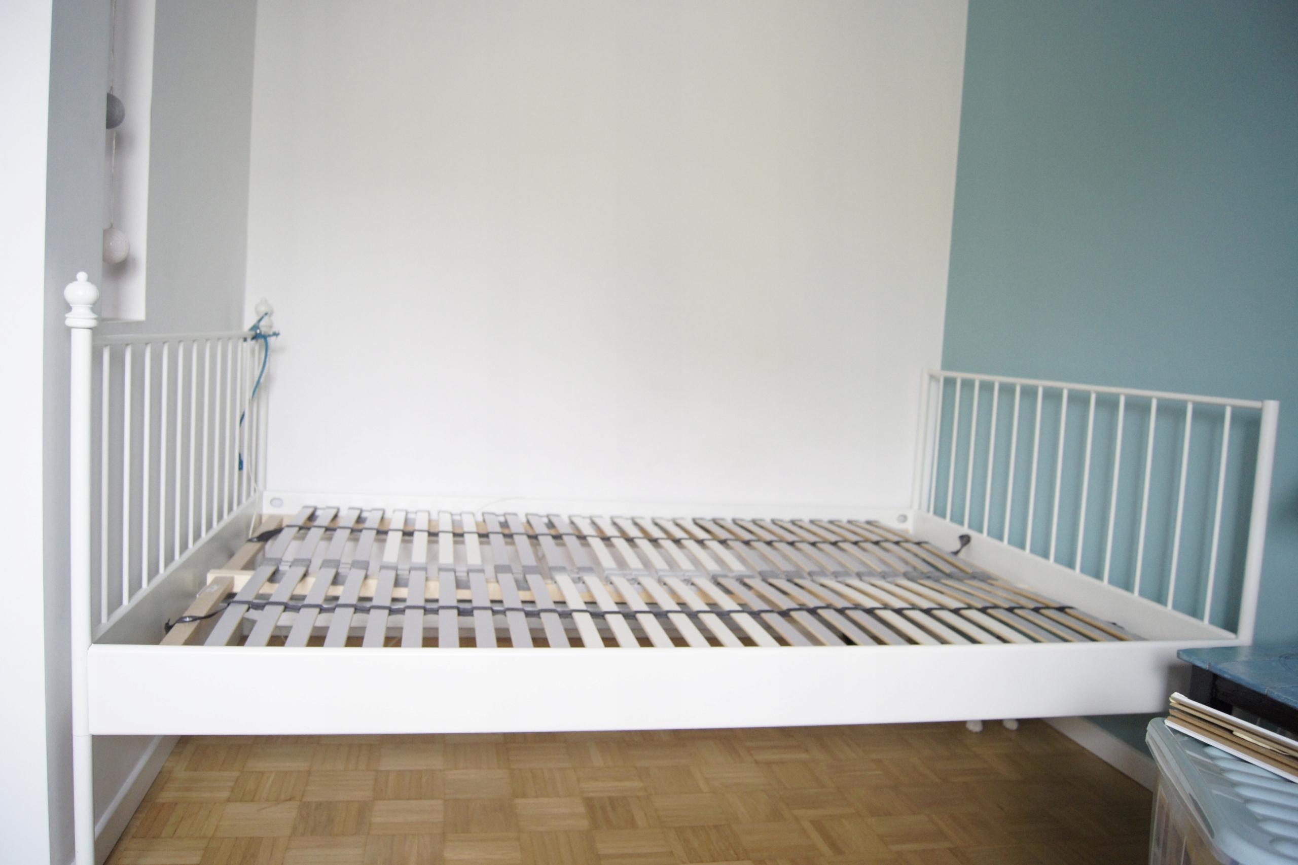 łóżko Ikea Leirvik 140x200 Białe