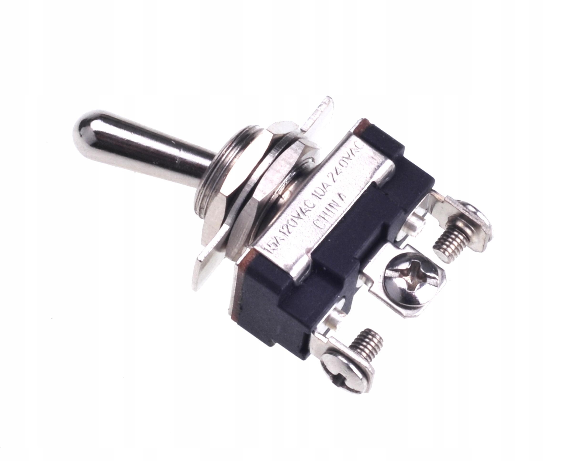 Przełącznik hebelkowy ON-OFF-ON 240V/10A (2402)