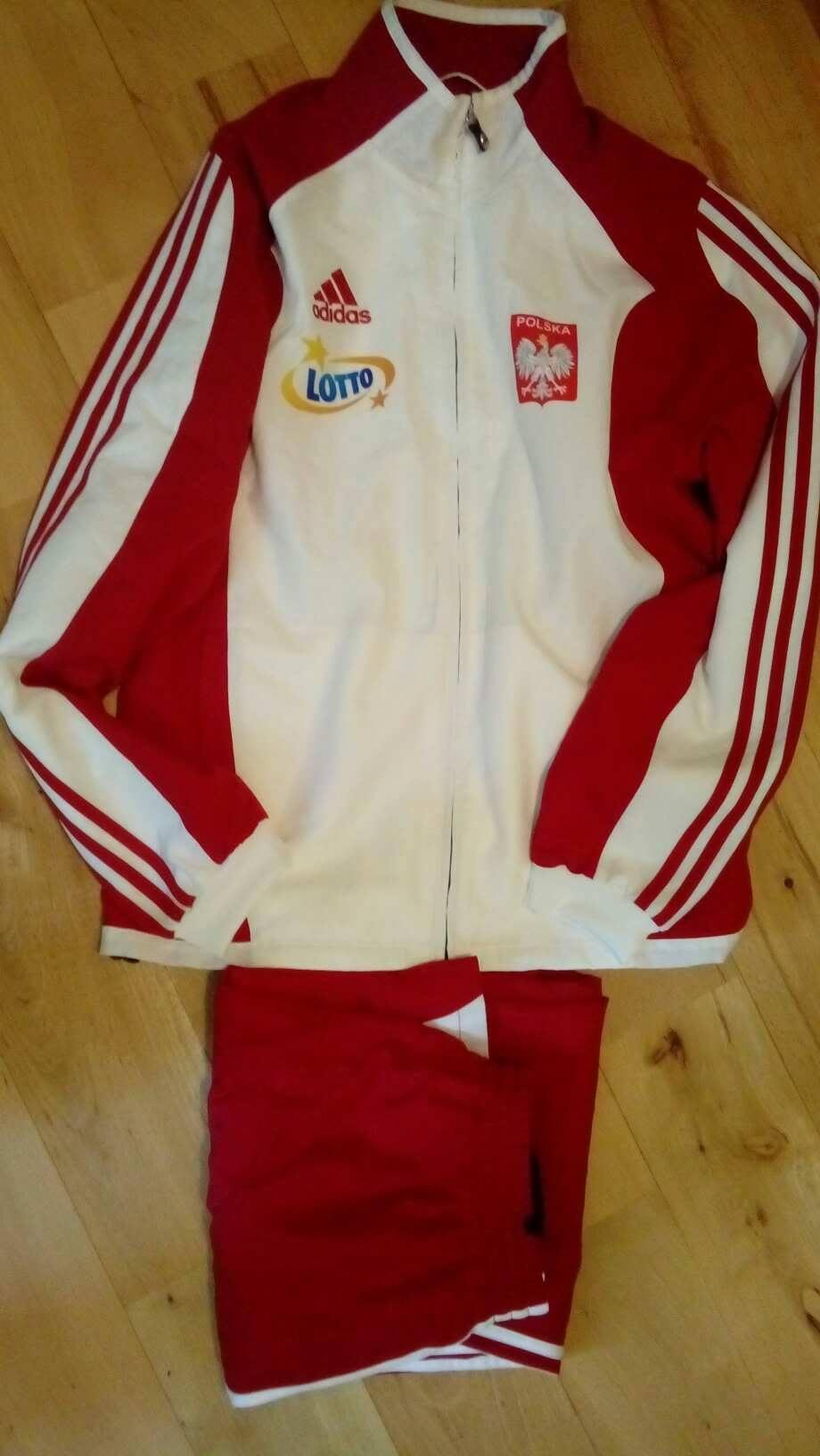 kody promocyjne nowy styl życia niska cena Oryginalny dres reprezentacji Polski Adidas S/M - 7447932674 ...