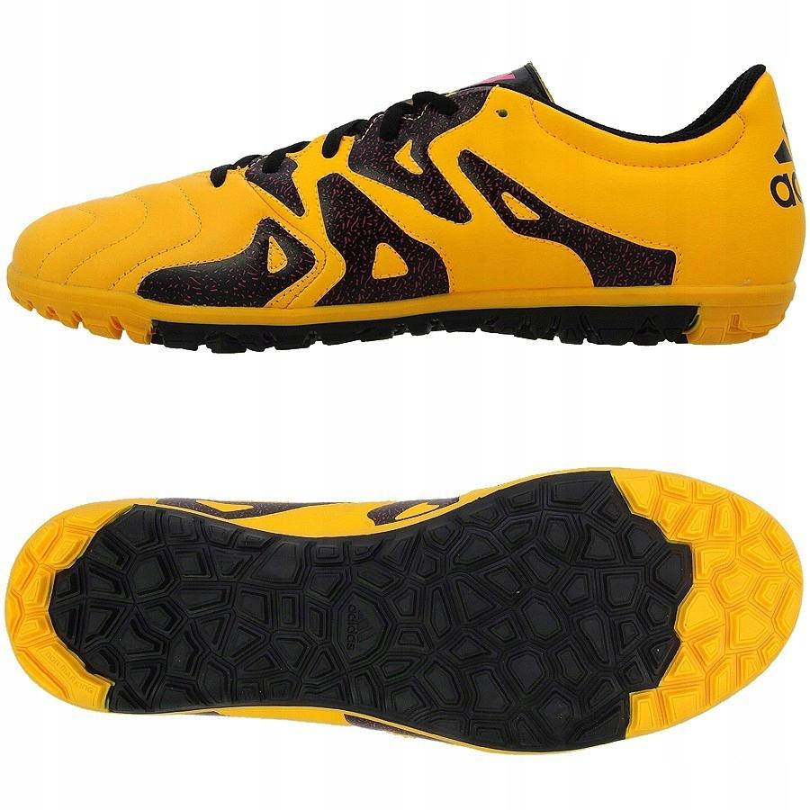 Buty adidas X 15.3 TF Leather S74669 żółty 44 7522328589