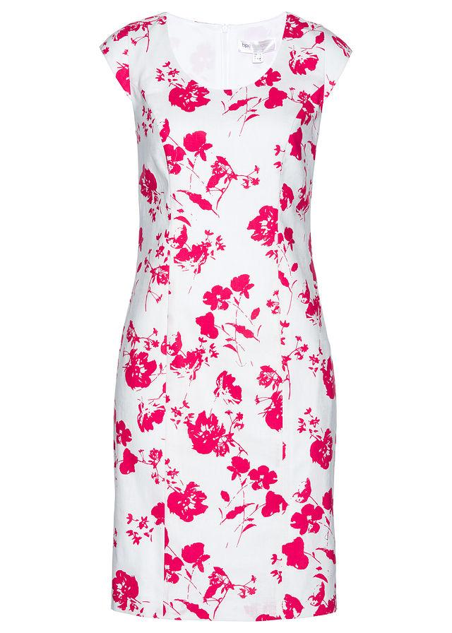 e6474cd737 Lniana sukienka ołówkowa biały 50 5XL 977733 - 7377086876 ...