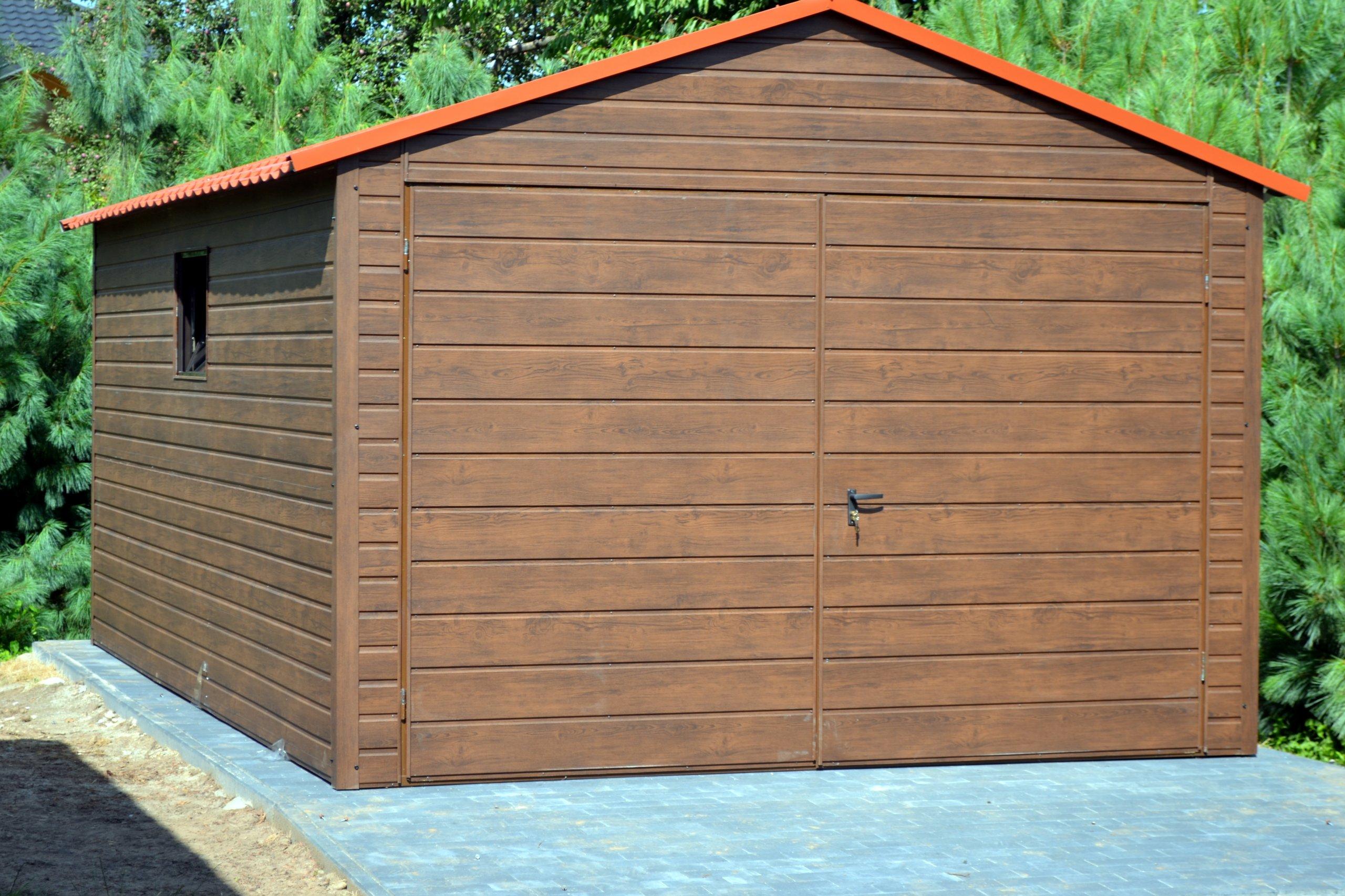Garaż Drewnopodobny Blaszany Garaże Blaszane 4x6 7247281239