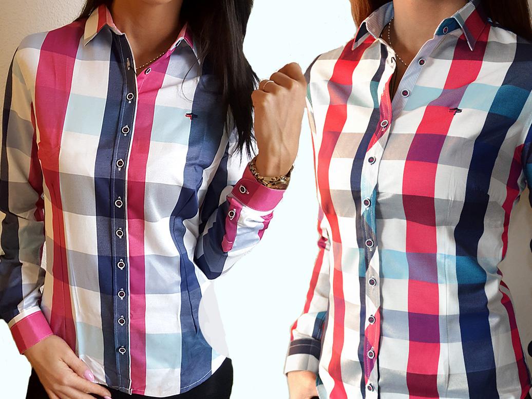 6704351933 Koszula Xl Krate W Różowa Kratkę Damska Bluzka dBtQCrxsh