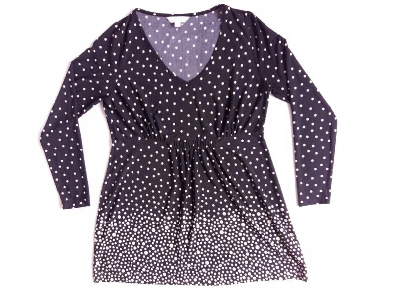 3891895af5 GLAMOROSA - czarna sukienka grochy - r. 44 - 7502839402 - oficjalne ...