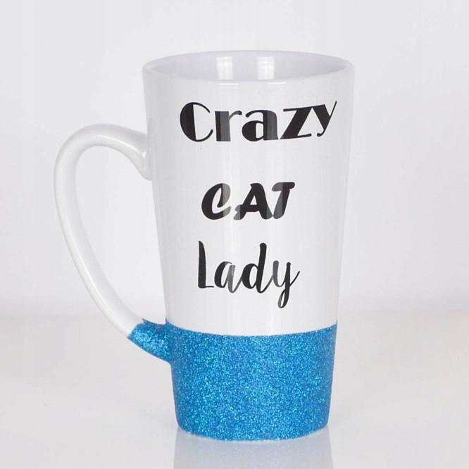 Kubek Z Kotem Latte Duży Crazy Cat Lady 7422416781 Oficjalne