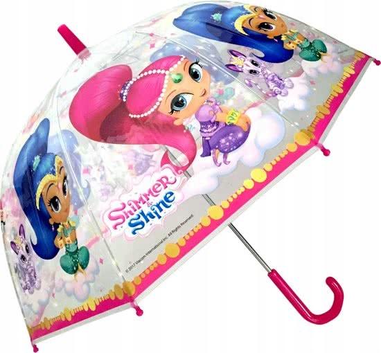 Shimmer i Shine parasol manualny przezroczysty
