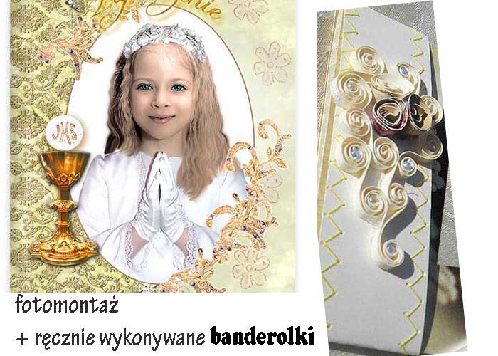 Zaproszenia Komunijne Komunia Ze Zdjęcie Hand Made 7235017734