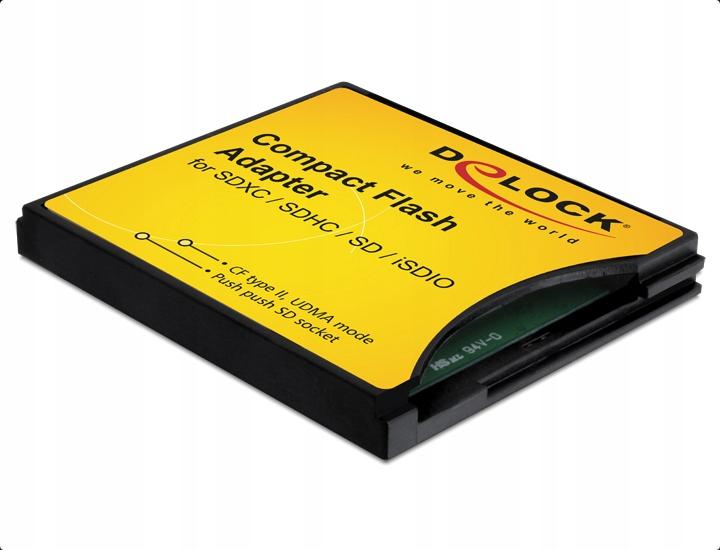 Adapter DELOCK CompactFlash > SD CFtypeII>SS