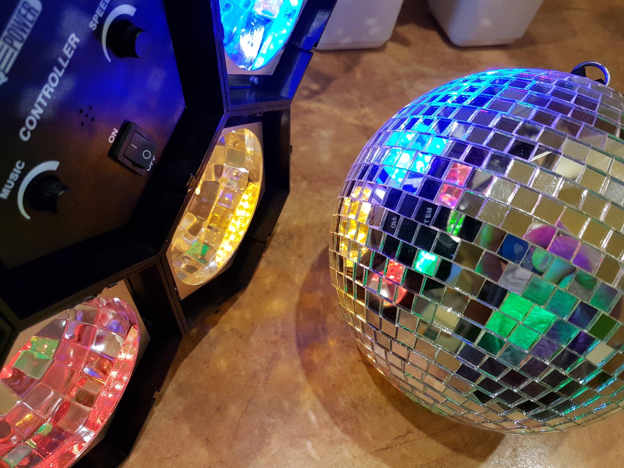 Zestaw dyskotekowy Kula Światła LED Laser urodziny