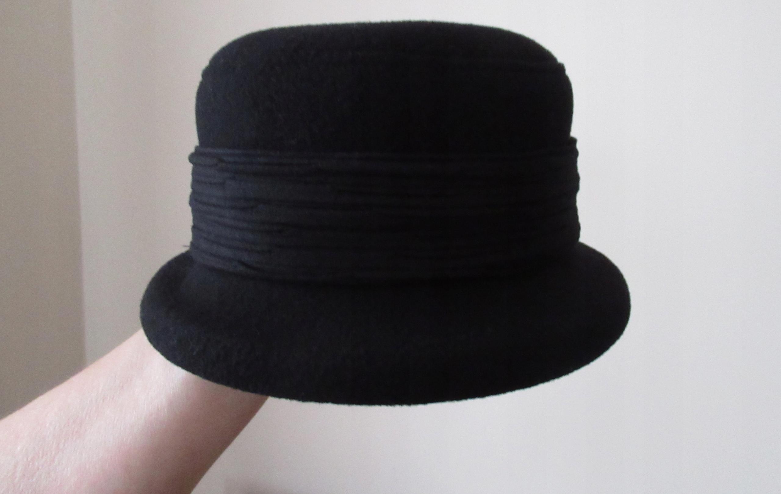 2ee4276a1 kapelusz damski jesień zima, rozm 56/58 ,czarny - 7679717648 ...