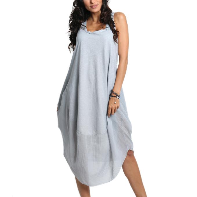 63c799900b Luźna sukienka BOHO bawełna midi 607 J.SZARA - 7231205010 ...