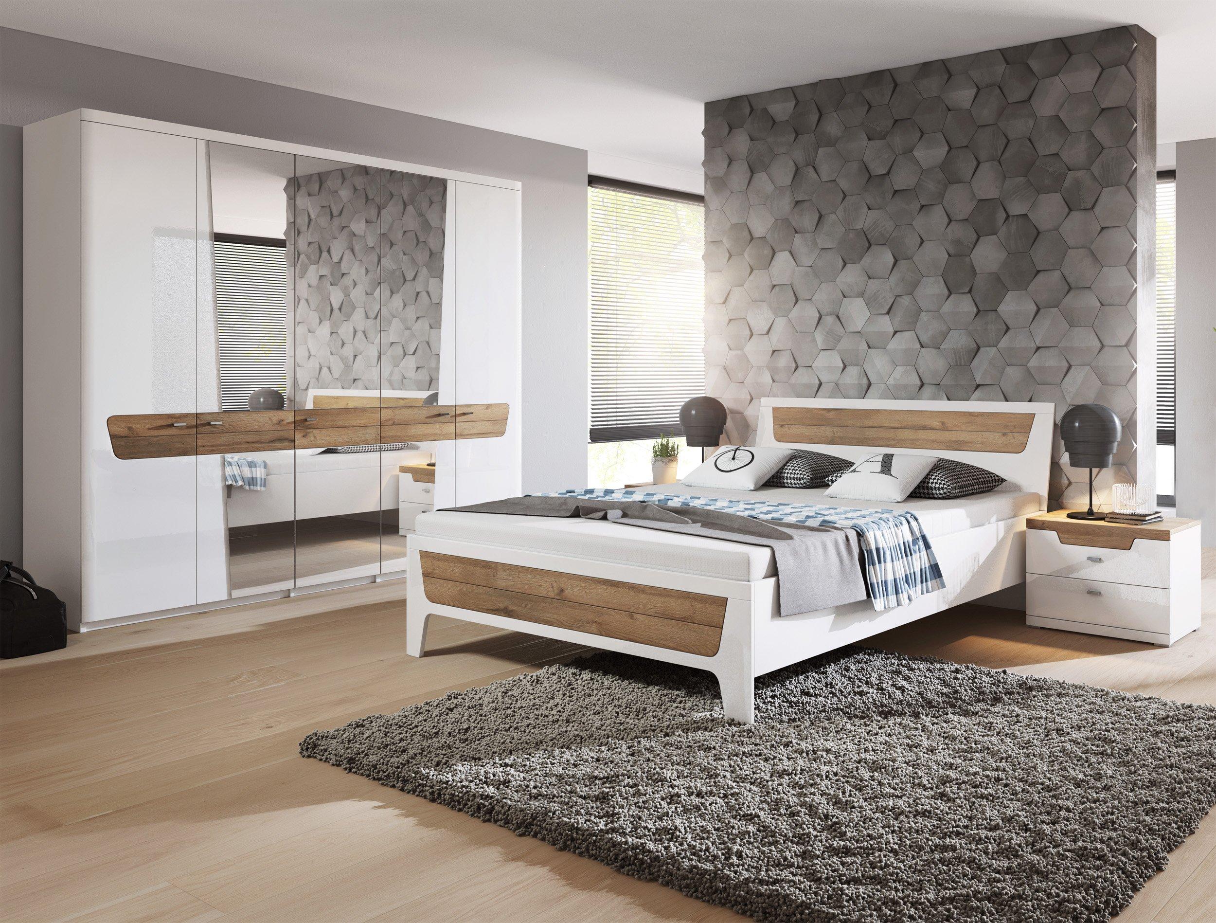 Sypialnia łóżko Szafa Stoliki Nocne Lustra 6999296513