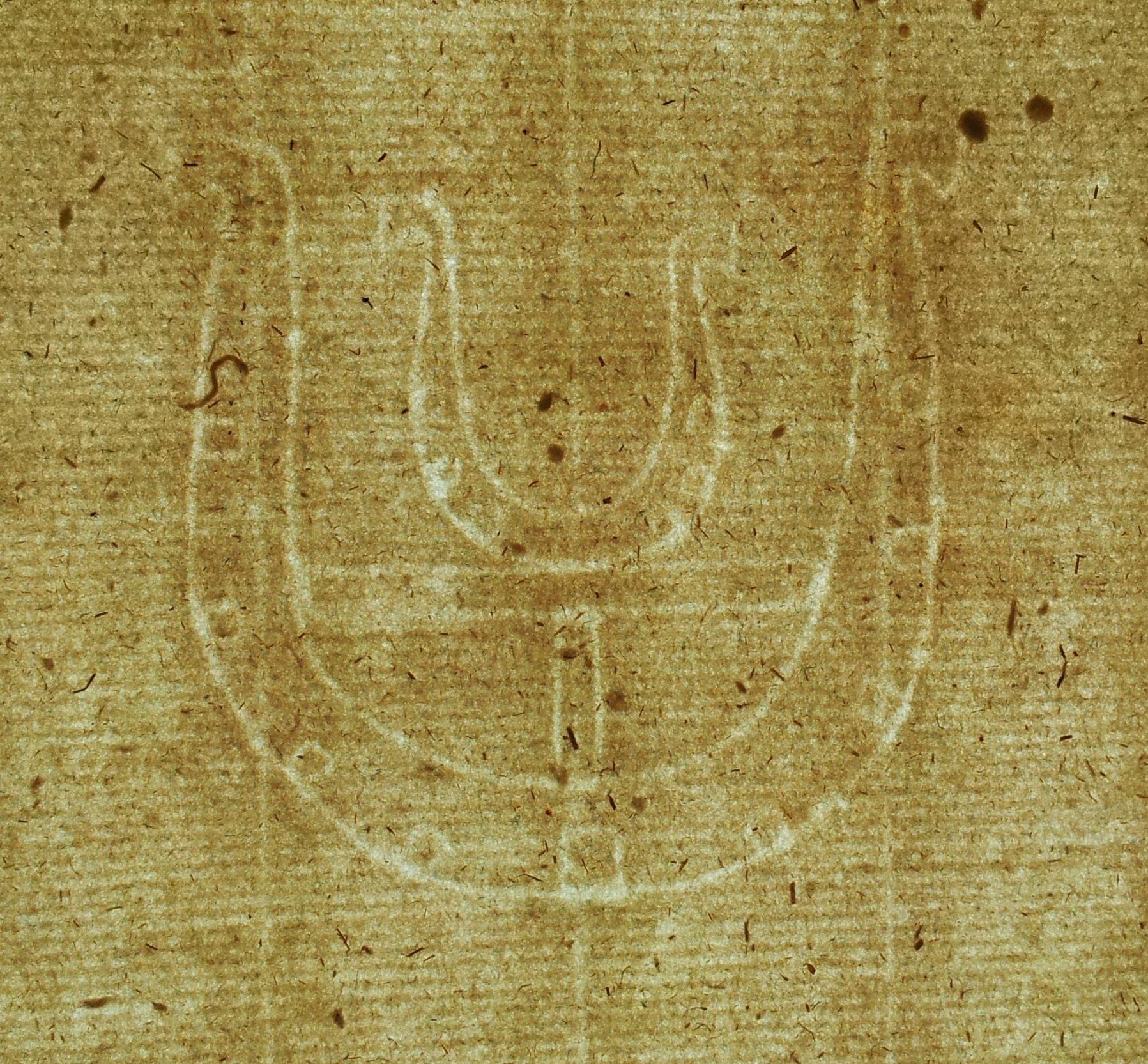 Papier XVIII wiek 2 podkowy Leszno Podkowa 148