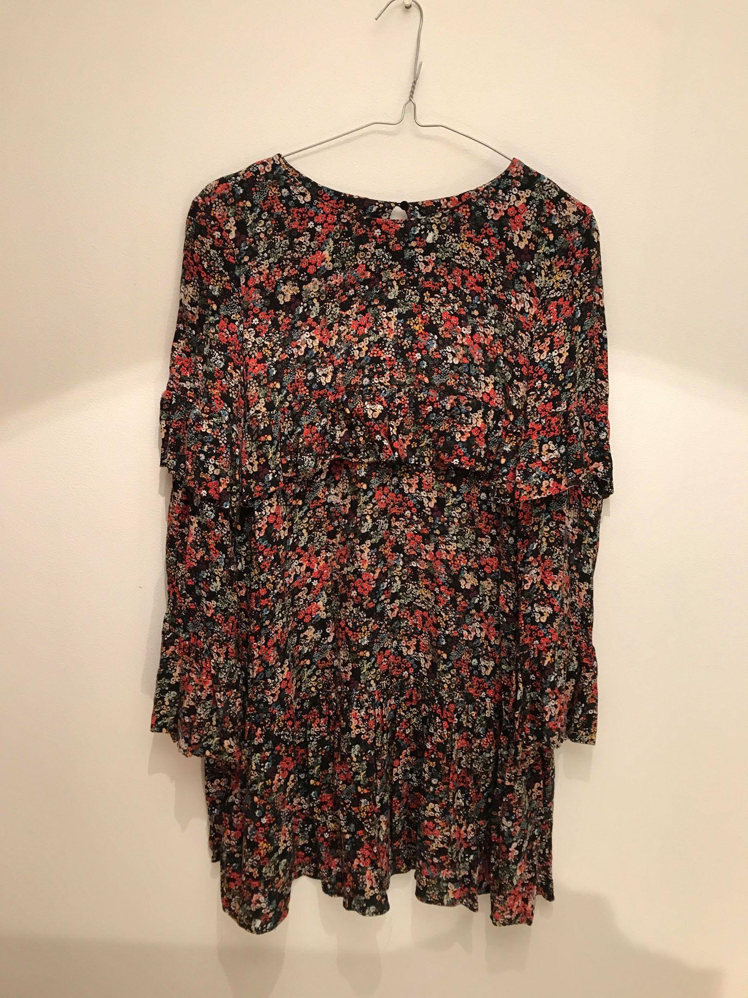 27b096f668 Sukienka w kwiaty ZARA XS floral hit trend blog - 7291771008 ...