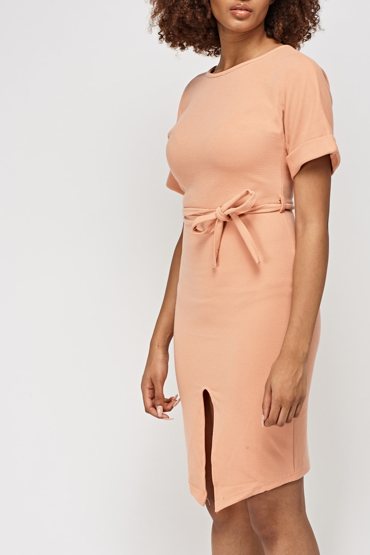 b9d0312549 Łososiowa sukienka 46 Markowe ubrania prosto z uk - 7181942493 ...