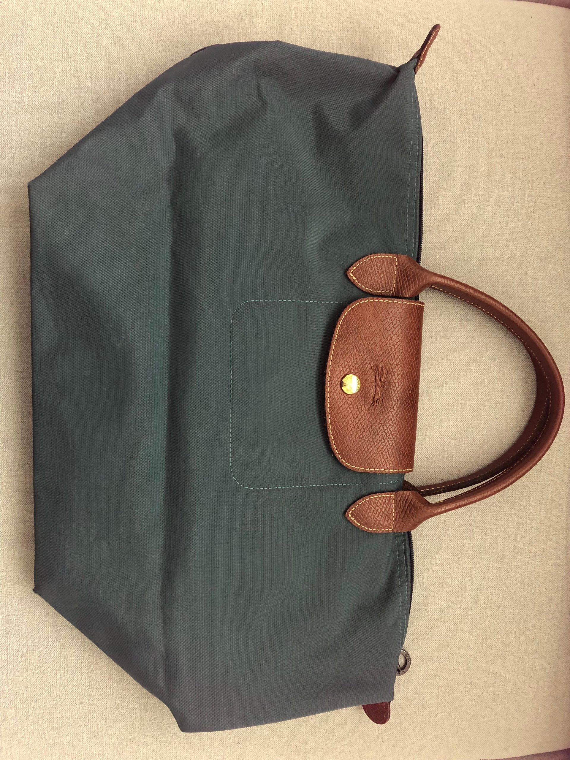 c96033f8f8196 Torebka Longchamp, Le Pliage, rozmiar M, zielona - 7202619010 ...