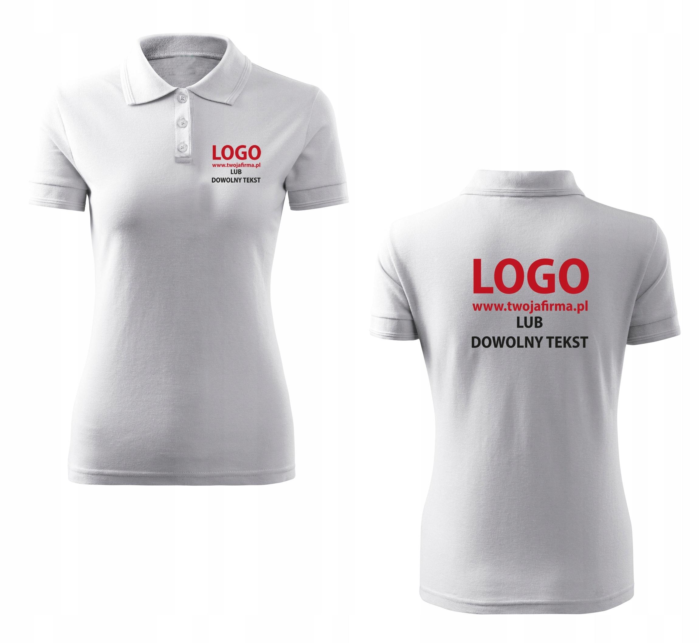 490797d8f8077 Damskie koszulki POLO z własnym nadrukiem logo - 7446506921 ...