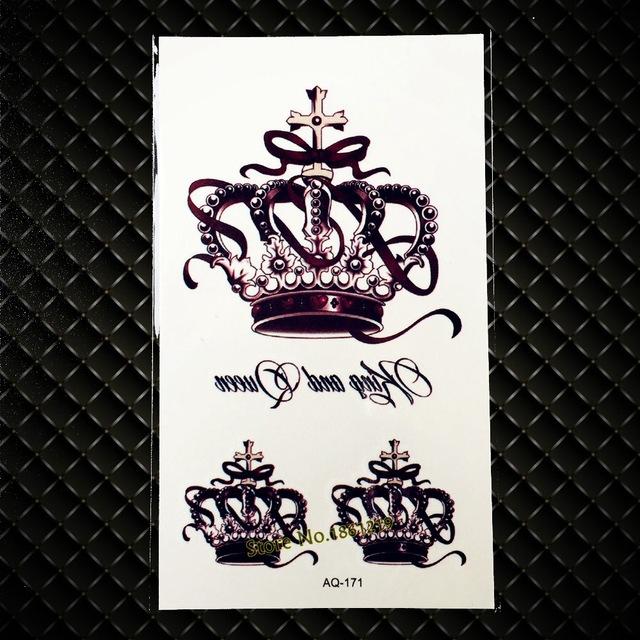Arkusz Tatuaży Zmywalnych Korony Królowa I Król 7338936946