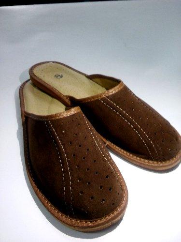 78d0645e71c9a Pantofle kapcie męskie skóra naturalna roz. 43 - 6996268114 ...
