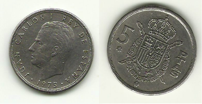 Hiszpania 5 Ptas 1973 H.Carlos