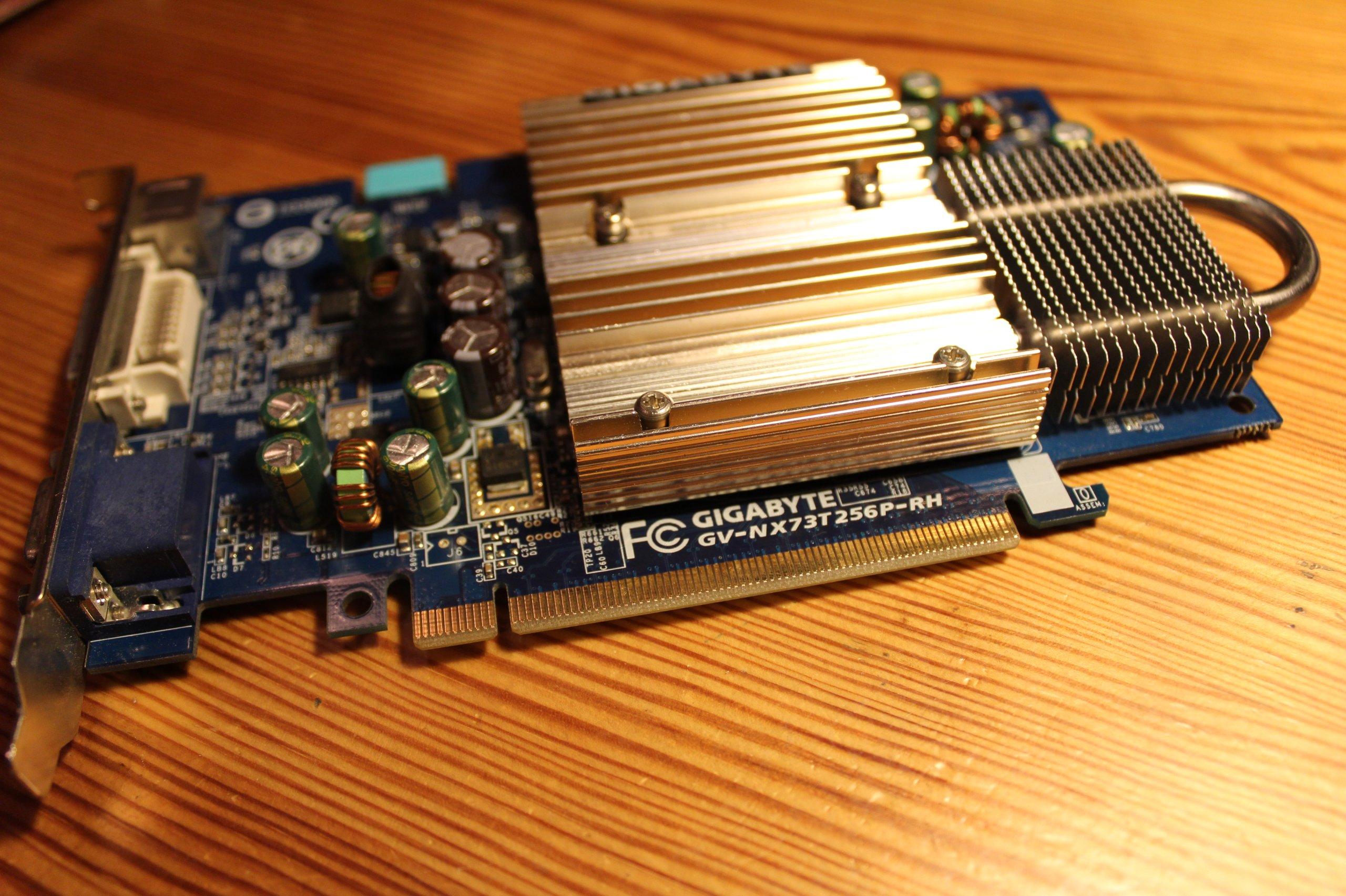 GIGABYTE GV-NX73T256P-RH GEFORCE 7300 GT DRIVER FOR PC