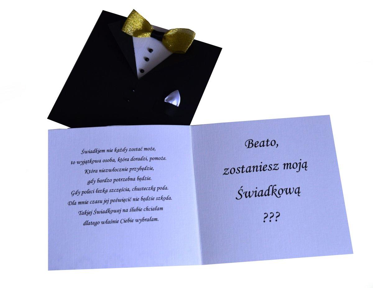Groovy Śliczne zaproszenia dla Świadków, Rodziców 2 szt!! - 6704744002 CQ78