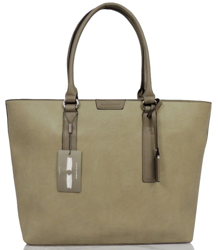 bb47430afee73 50% DAVID JONES DUŻY SHOPPER TOREBKA SZARA BEŻ - 6963890184 ...