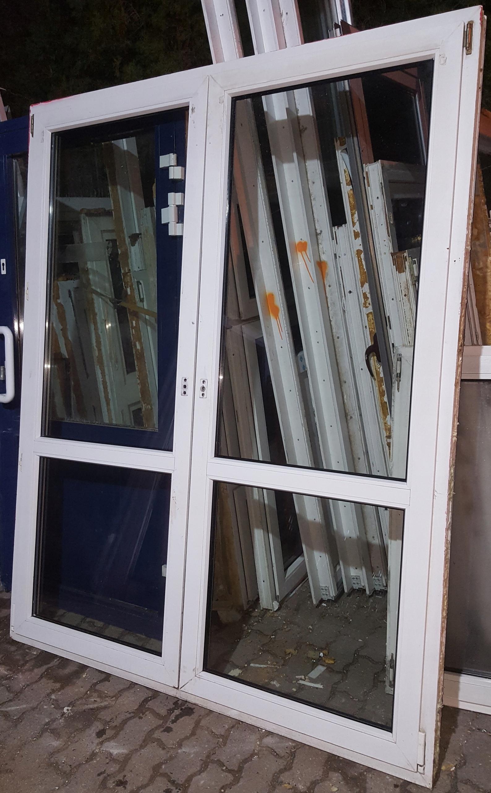 Drzwi Tarasowe Dwuskrzydłowe Białe Ru Pcv 172x214