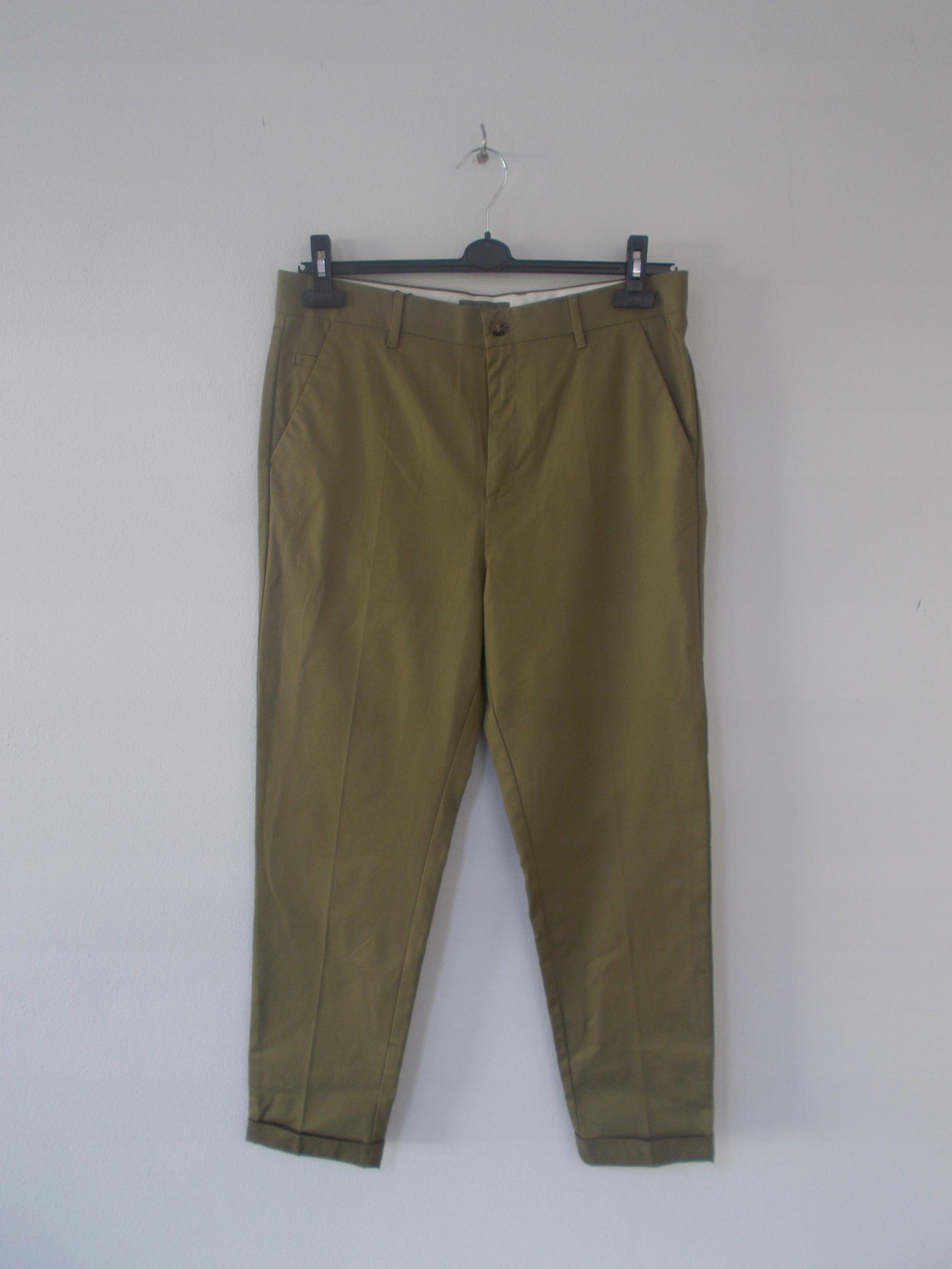 6e5eee77682ce1 Zara Man, spodnie w kolorze oliwkowym, rozm. 42 - 7718498511 ...
