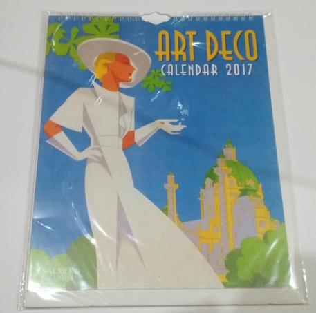 Kalendarz ART DECO nowy duże grafiki ilustracje