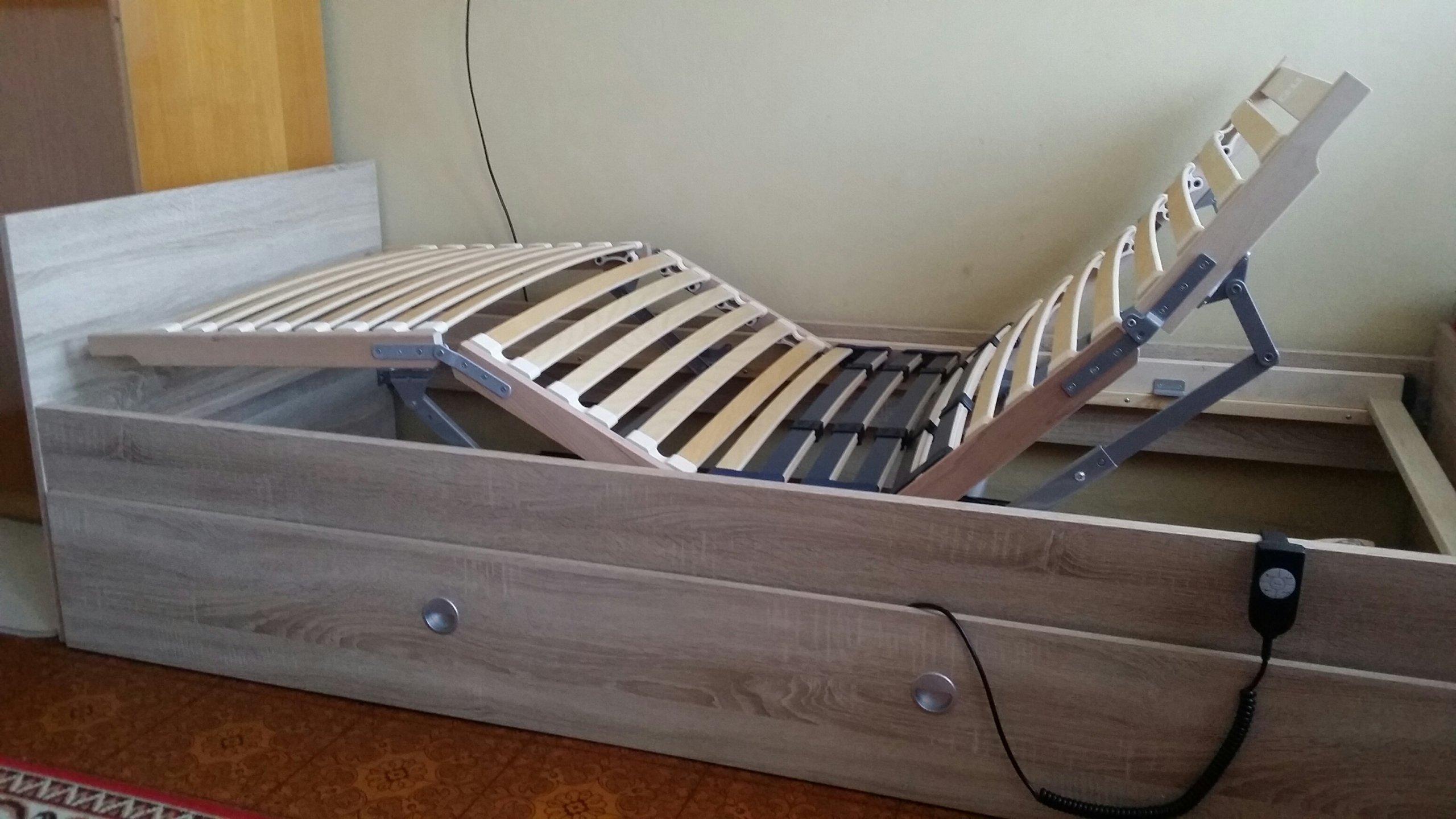 łóżko Rehabilitacyjne Stelaż Elektryczne Materac