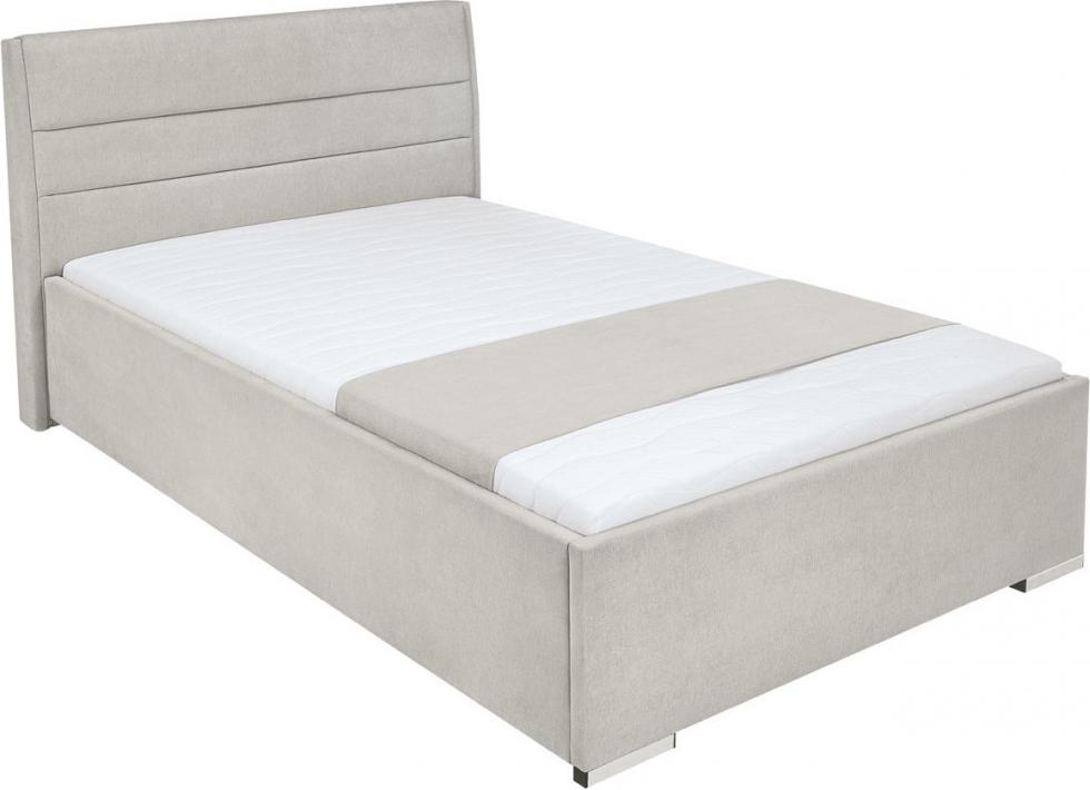 łóżko Tapicerowane 120x200cm Popielate Sandra Brw