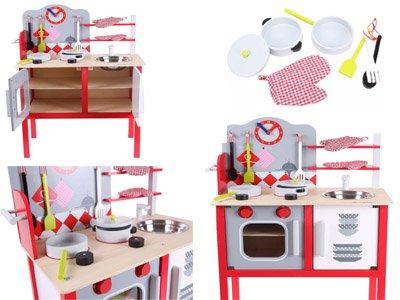 Drewniana Kuchnia Dla Dzieci Ecotoys Garnki Mn 6966708946
