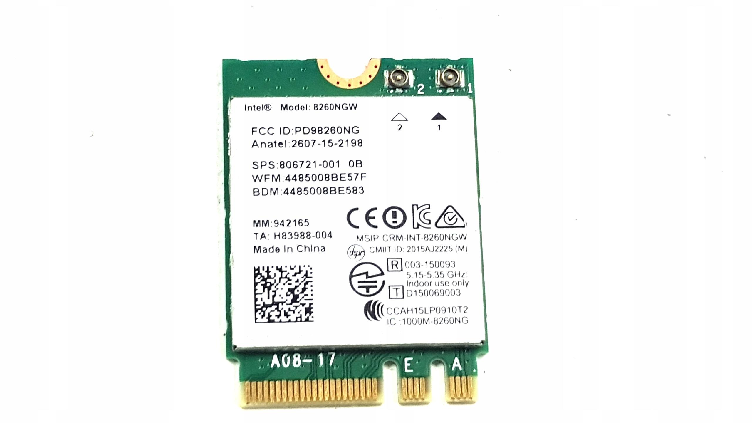 KARTA WIFI HP 650 655 G2 Intel Dual Band 8260NGW