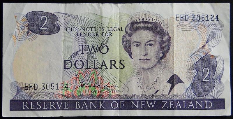 1983 New Zeland Elżbieta II - 2 dolary