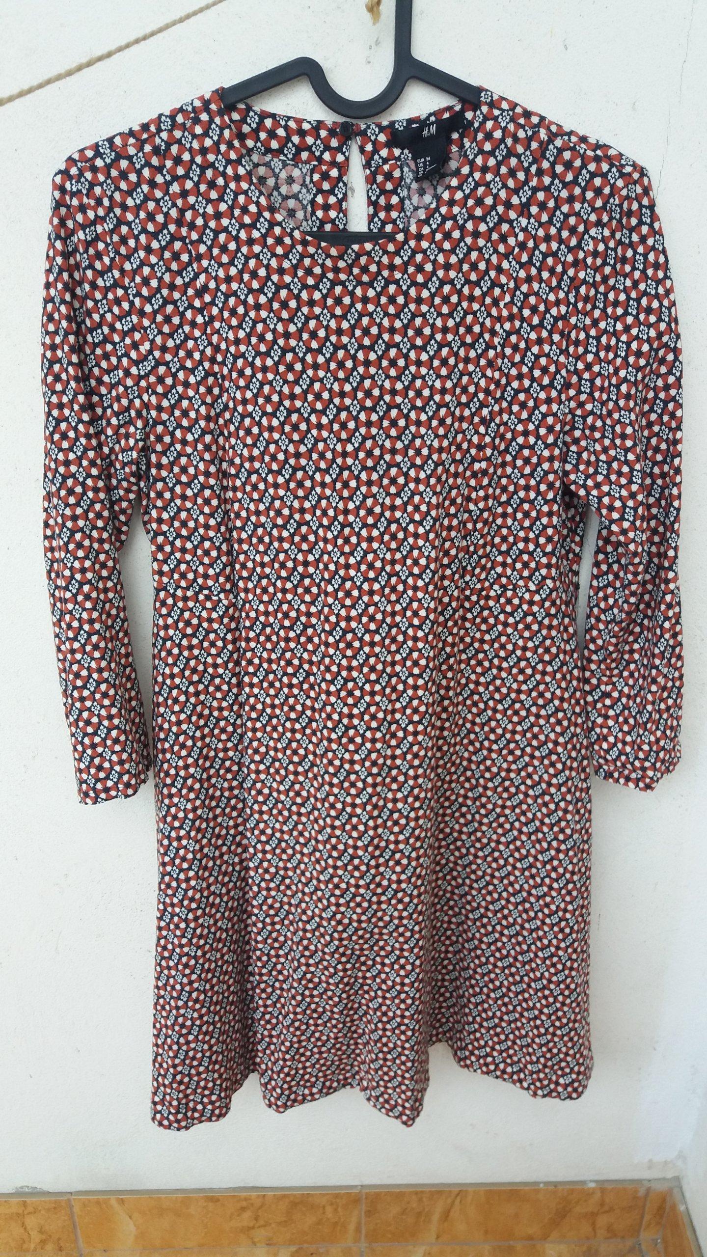 sukienka H M 34 vintage retro - 7214953732 - oficjalne archiwum allegro 528931e5c8a65