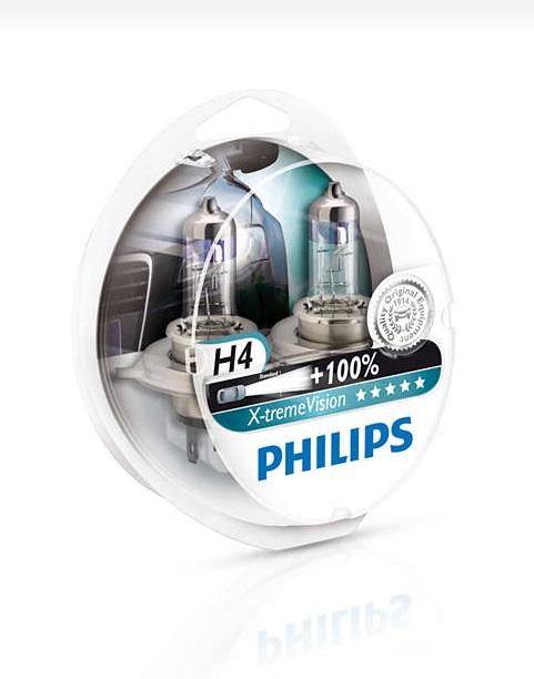 Philips XTremeVision H4 60/55W +130% Swiatła 2szt
