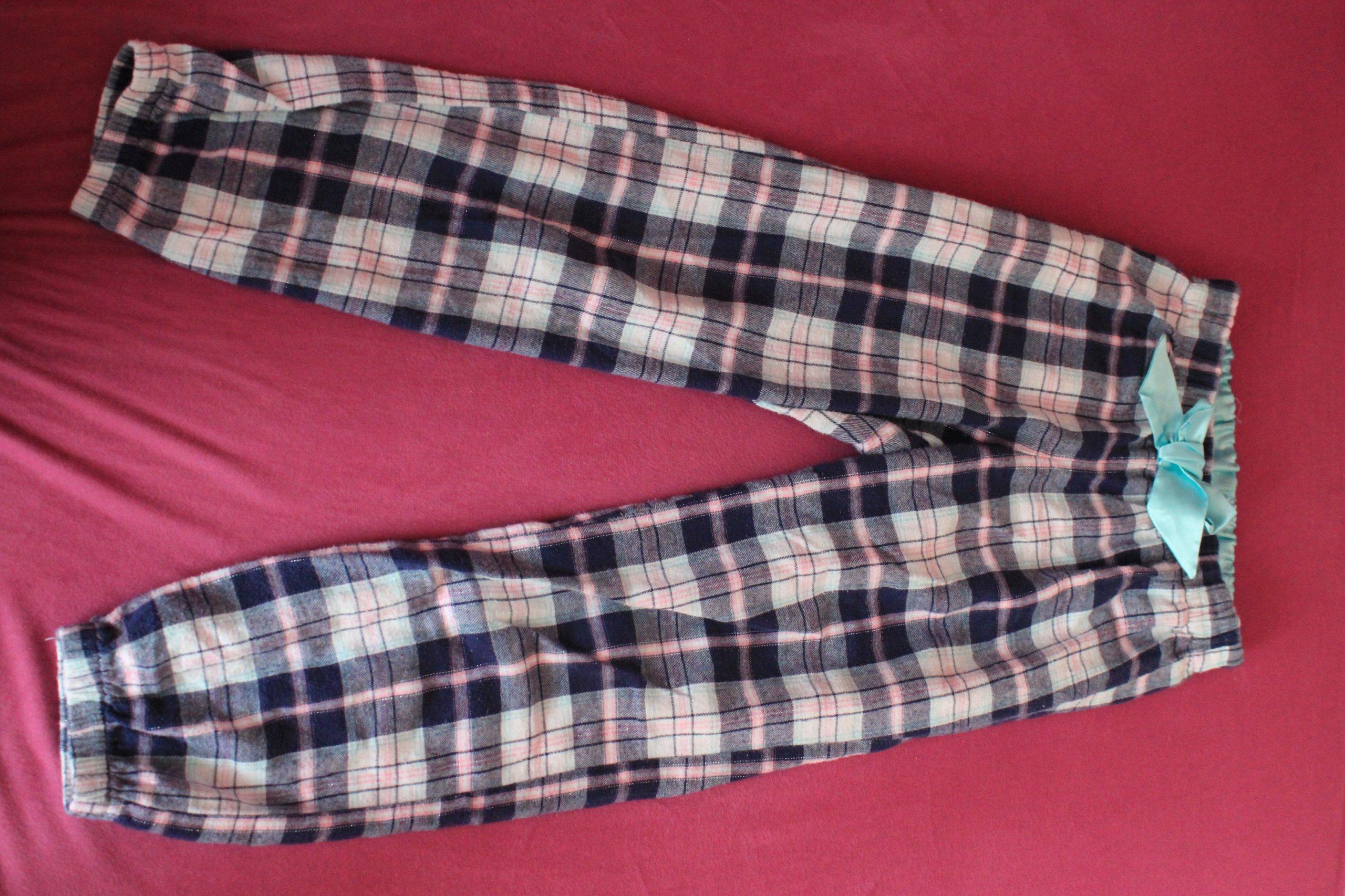 KappAhl spodnie od piżamy w kratę rozmiar 134/140