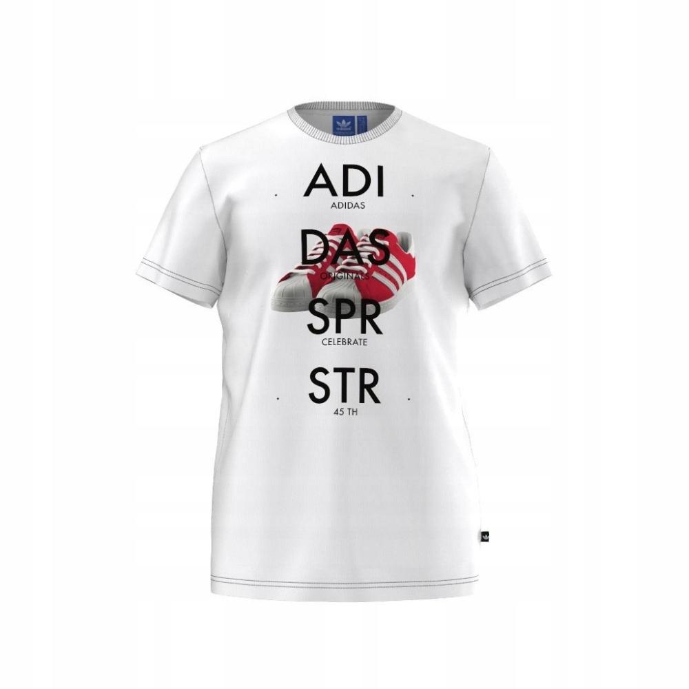 13878751f20d T-shirt adidas Originals Superstar Shoe Tee S biał - 7603166452 ...