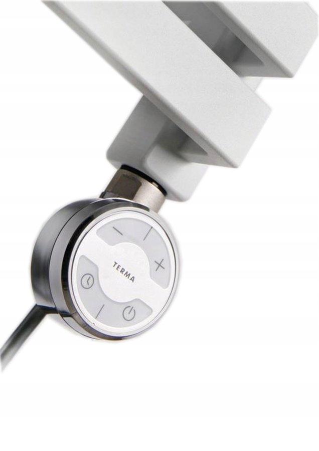 Grzałaka elektryczna z termostatem, 600W, chrom