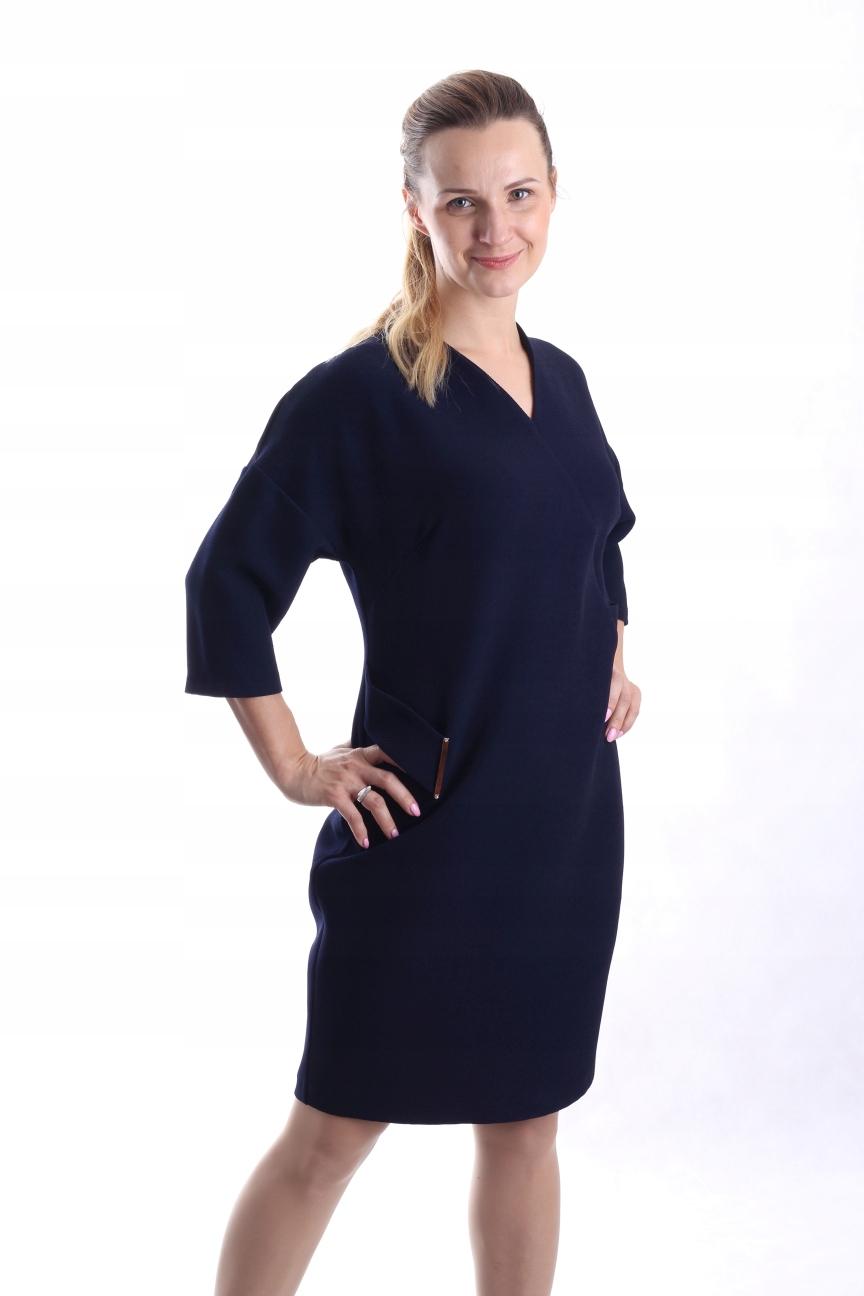 9b34bda440 Sukienka koktajlowa r.44 JEDNOTONNA GRANAT !! - 7650413605 - oficjalne  archiwum allegro