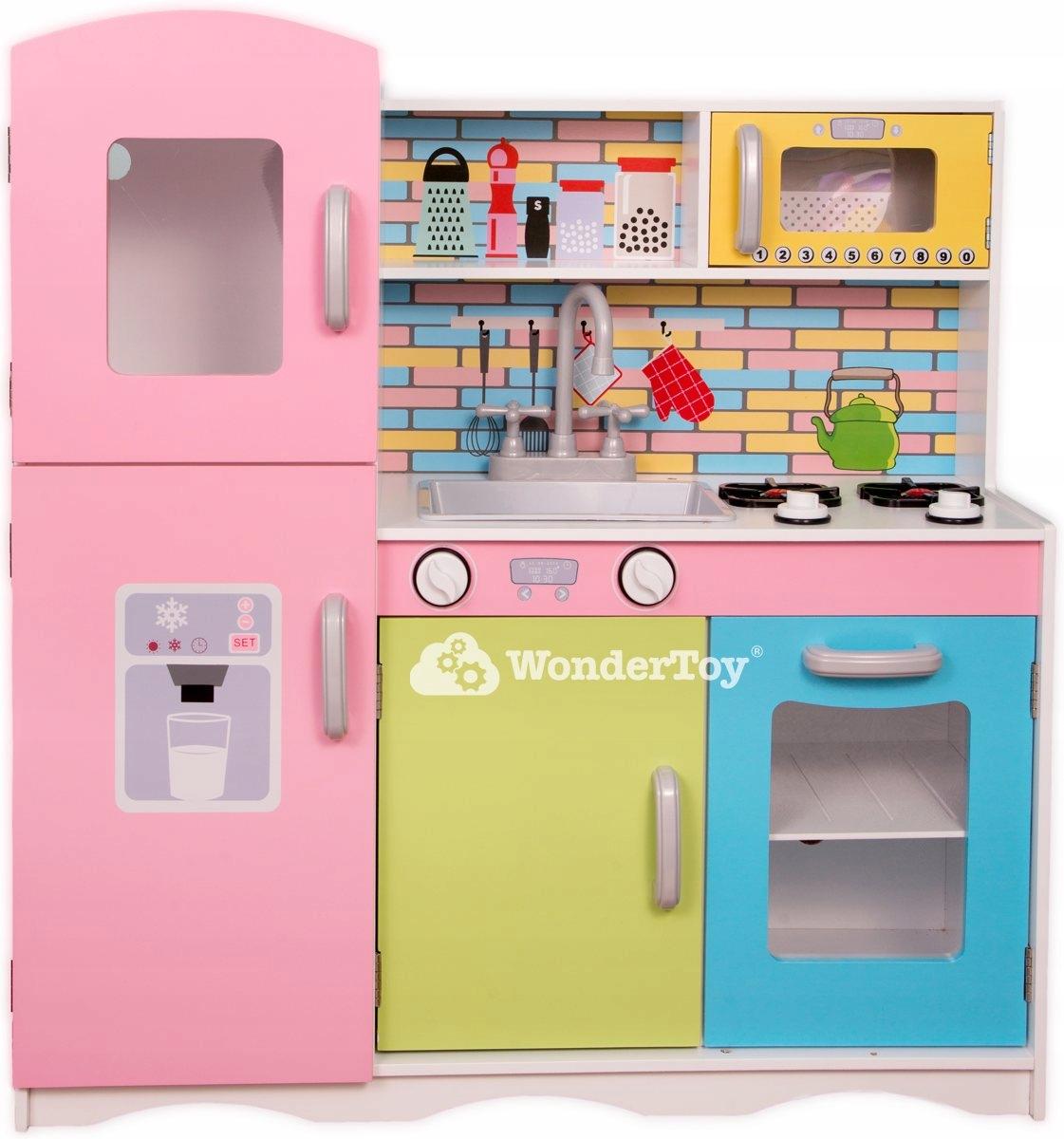 Drewniana Kuchnia Dla Dzieci Neon Cook Deluxe 7029595397