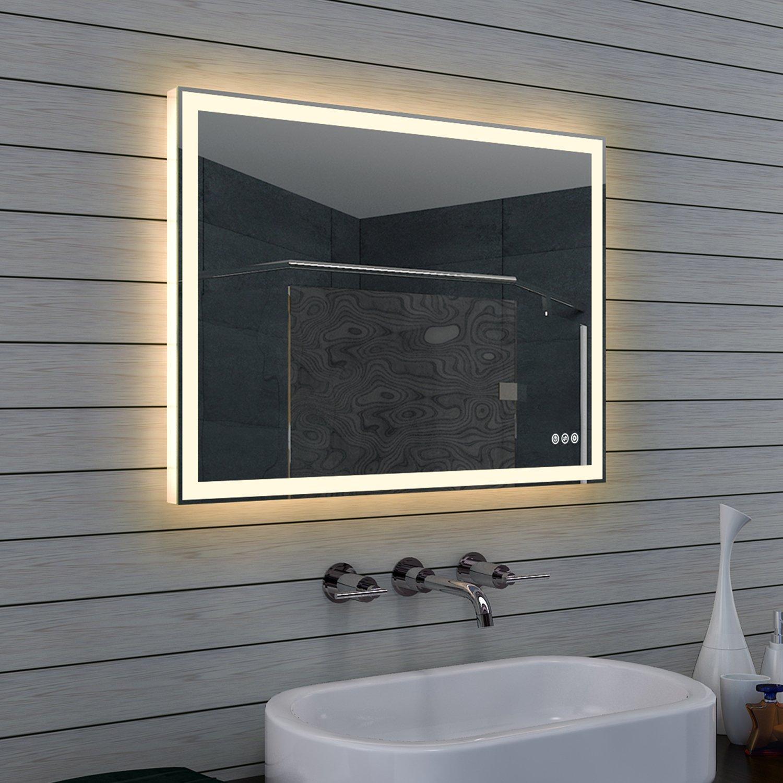 Lustro Z Oświetleniem Led Lux Aqua 80x60cm 4697 7198765861