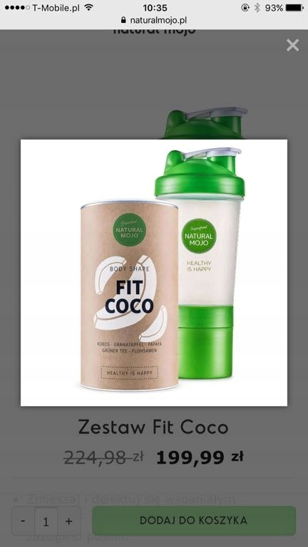 Natural mojo, fit coco plus shaker